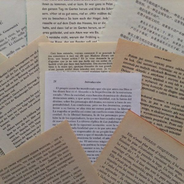 World Language - 10 Assorted  Book Pages